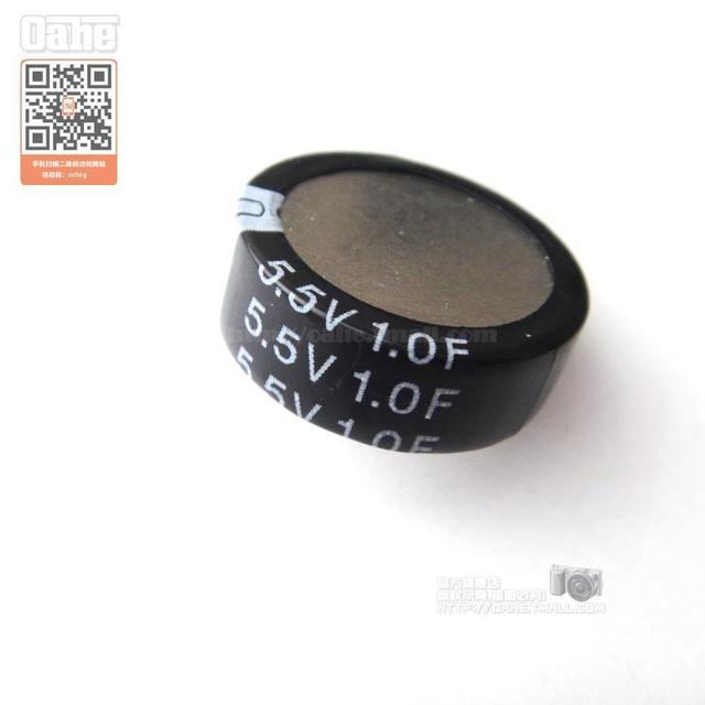 Free Shipping for 5.5V 1.0F  button-type C-P5MM feet away from the super-capacitor genuine original 5pcs / lot  1.0F 5.5V