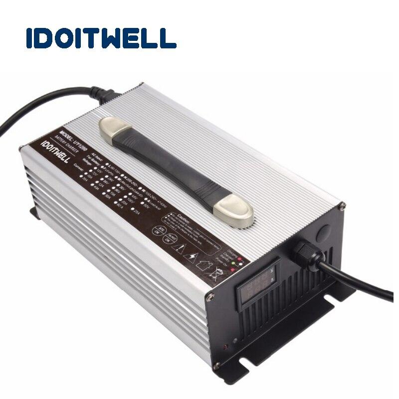 Personnalisé 1200 w série 12 v 50A 24 v 30A 36 v 20A 48 v 20A 60 v 15A 72 v 12A batterie chargeur pour le Plomb acide batterie Au Lithium ou LifePO4