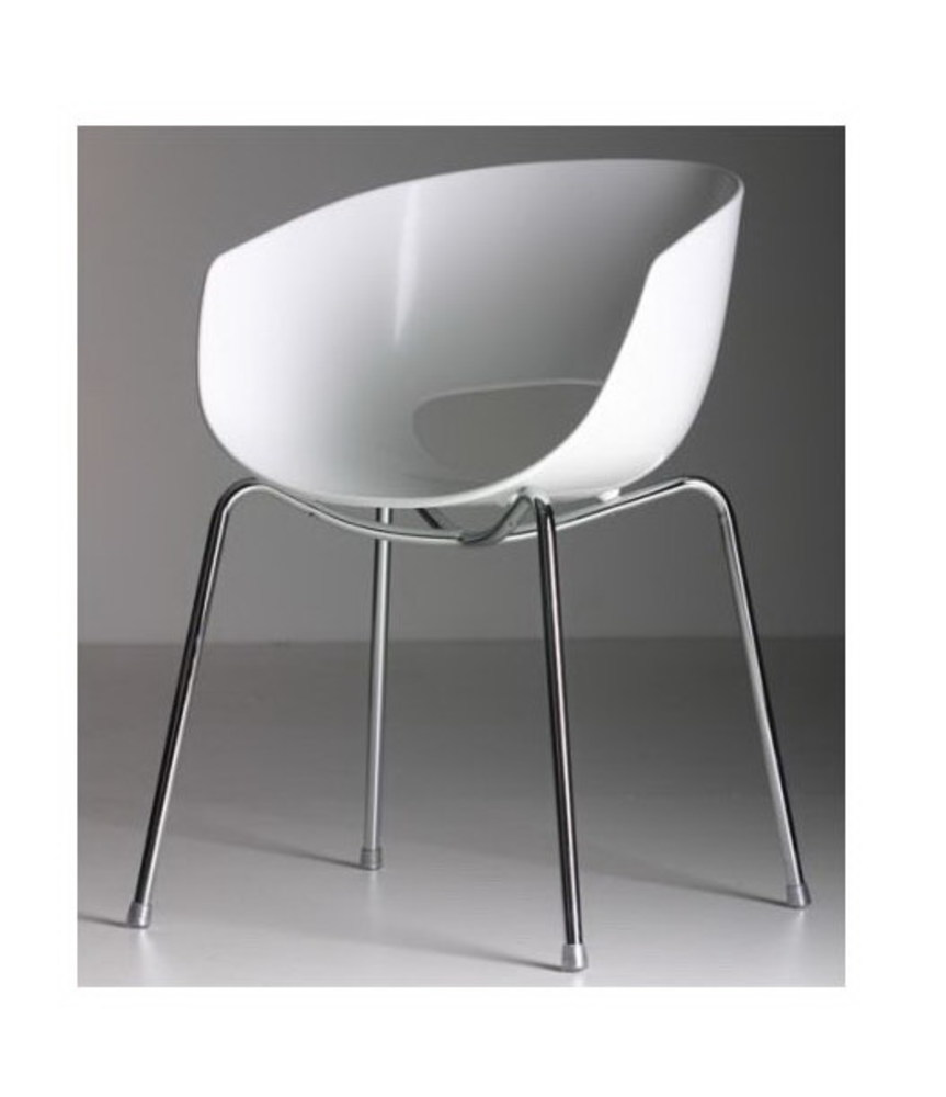 Modern Design Classic Minimalist Dining Chair Europe Plastic Seat and Steel metal Leg cafe chair living room fashion furniture ...