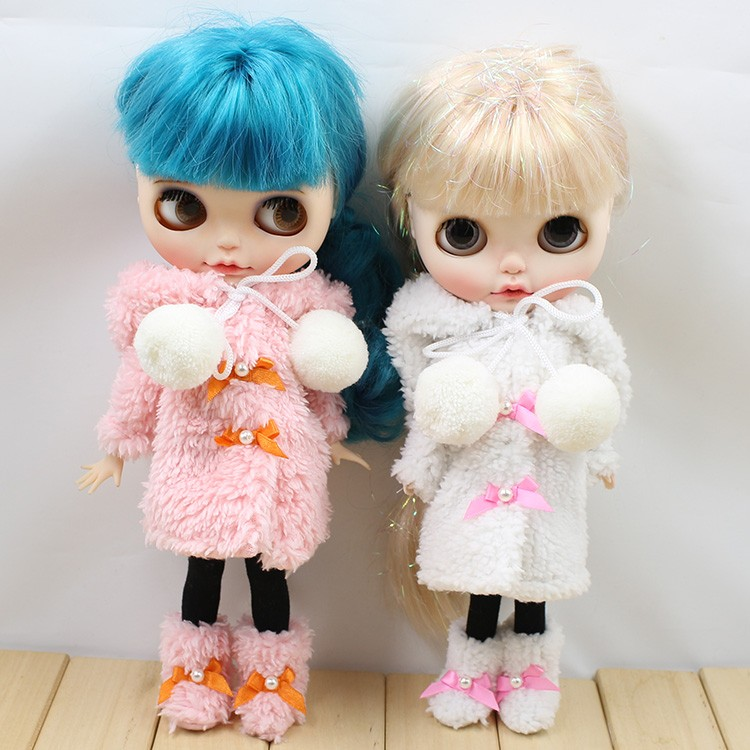 Neo Blythe Doll Winter Suit With Shoes & Stocking 5