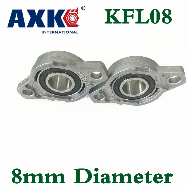 2018 Thrust Bearing Rolamento Axk 2pcs/lot New 8mm Diameter Zinc Alloy Bearing Housing Kfl08 Fl08 K08 Flange With Pillow Block цена 2017