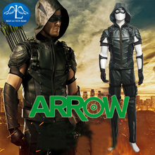 MLYX Mens Green Arrow Season 4 Cosplay Costume Updated Version