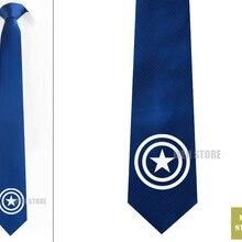 """Герой Капитан Америка Для мужчин жаккардовые стройный узкий 2,"""" галстук 6 см галстуки Свадебная вечеринка жениха галстук, запонки LK022M"""