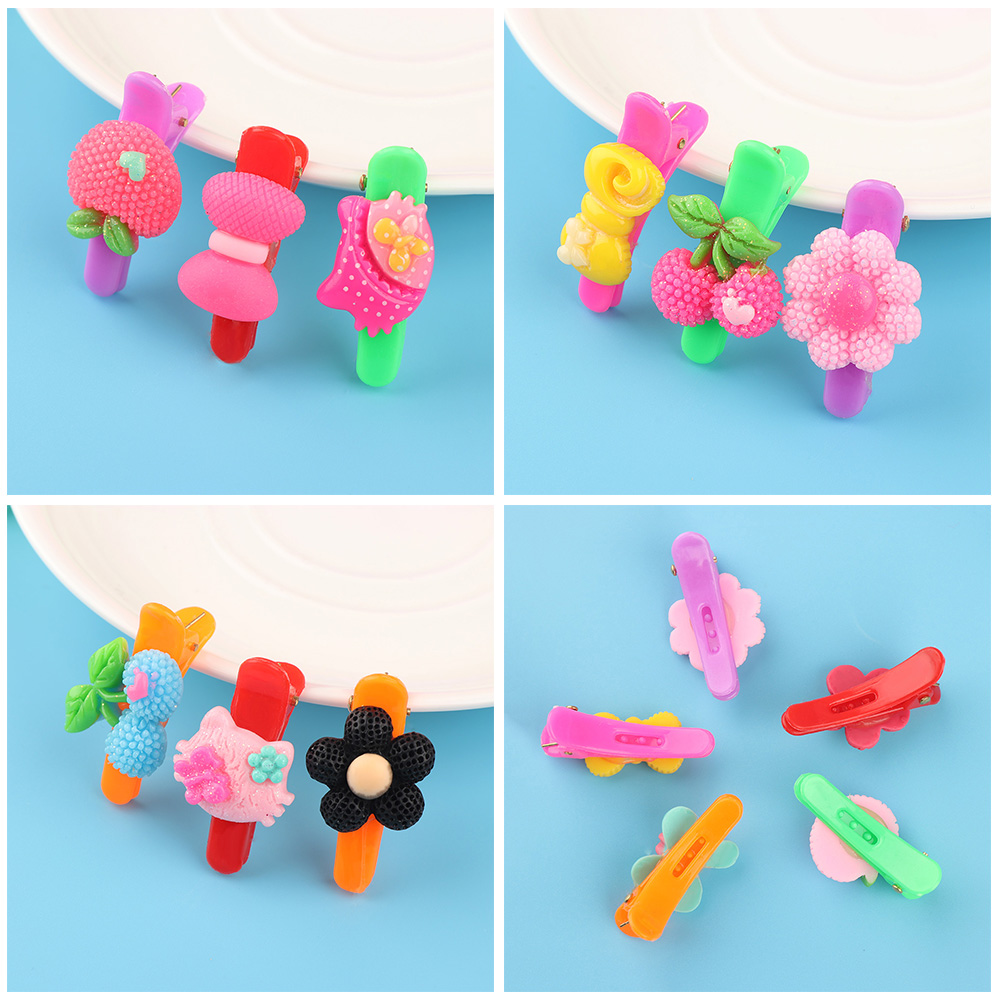 HTB1c7IoRVXXXXaiXXXXq6xXFXXXw 12-Pieces Mix Colorful Fruit Flower Star Animal Fish Ribbon Heart Candy Hair Accessories For Girls