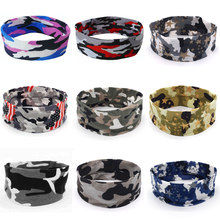 Fashion Women Men Elasticity Rock Camo 1PC Stretch Headband Casual Head Band Sport Sweat Sweatband Yoga Gym Hair Accessories(China)