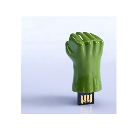 Real Capacity Iron Man USB 2.0 Flash Drive 8g16g64g128g Disk/Creativo Pendrive/Memory Stick/Gift Avengers Hulk Hand Pen Drive-in USB Flash Drives from Computer & Office