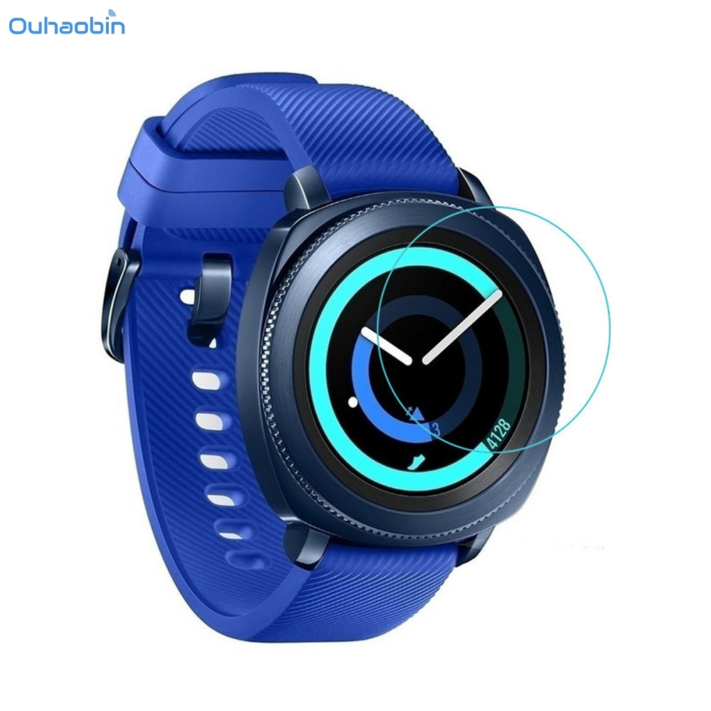 Ouhaobin Smart Accessories Explosion-proof Screen Protector Tempered Glass Film For Samsung Gear Sport SM-R600 Watch Nov24