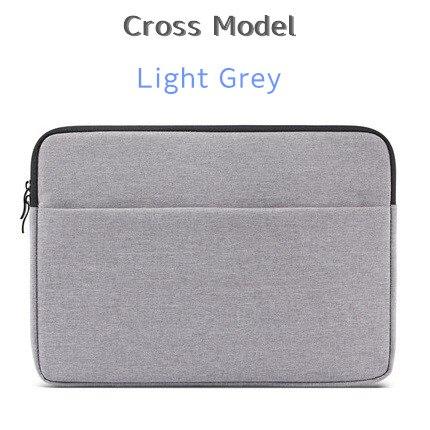 """Брендовый чехол aigreen для ноутбука 1"""", 13"""", 1"""", 15, 15,6 дюймов, сумка для Macbook Air Pro 13,3"""", 15,"""", Прямая поставка - Цвет: Cross Light Grey"""