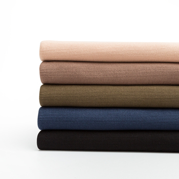 Thin Cotton Spandex Rib Fabric 160 Gsm For Summer T-Shirt And Tops Stretchy Jersey Cuff Fabric 0.25m/0.5m/Piece A0275 2