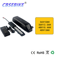 Electric Bike Battery Pack 48V 10.4Ah 13Ah 36V 10ah 12.5Ah built in 18650 Cells Front Rear Hub / Mid Drive Bicycle Motor Kit(China)
