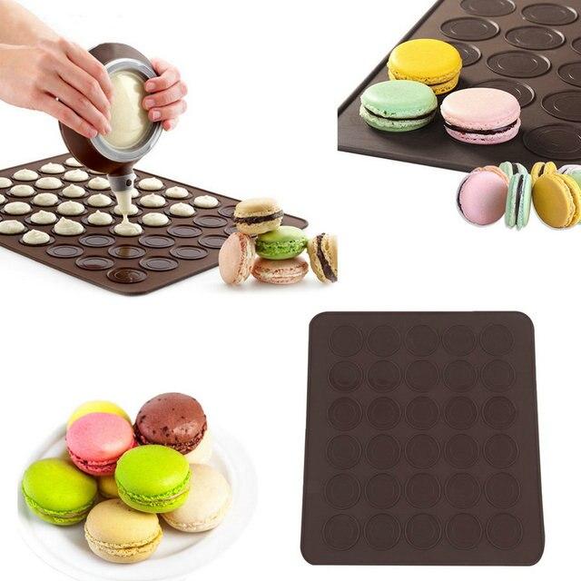 Pratique Cavity Silicone Pâtisserie Gâteau Macaron Forme DIY - Carrelage cuisine et tapis silicone macarons