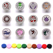 Aromatherapy 18mm Snap Buttons Perfume Locket Stainless Steel Essential Oil Diffuser Tree Of Life Button Bracelet Jewelry