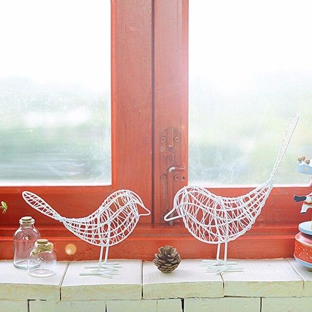 1 шт. старинных металл ремесло провод птица модели декоративный орнамент дома Гостиная Офис Desktop украшения подарок корабля белый