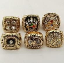 Precio de fábrica 6 años fija 1974 1975 1978 1979 2005 2008 Pittsburgh Steelers campeonato anillos, anillo de la buena calidad