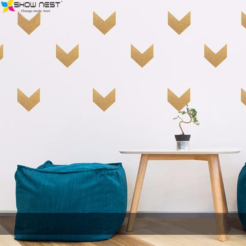 Divine Design Wall Decals : Gold arrow wall decals vinyl sticker kids bedroom art