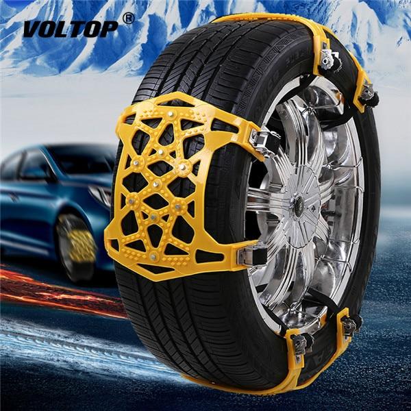 Universal Car Tire Anti-skid Belt Emergency Tire Chain Winter Truck Tire Chain for Snow Road 4pcs Snow Chain