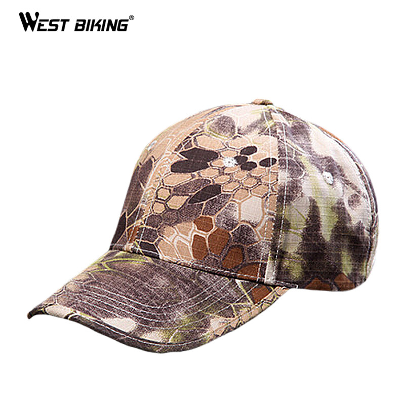 WEST BIKING Outdoor Camouflage Hat Rattlesnake Python Painted Bandana Ciclismo Breathabl ...