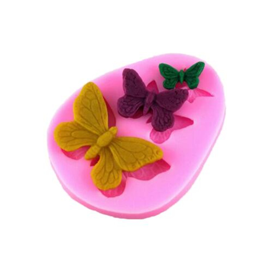 1Pc Butterfly Silicone Mold Shaped Fondant Cake Mold Soap Mould Backware Baking Cooking Tools Sugar Cookie Jelly Pudding Decor