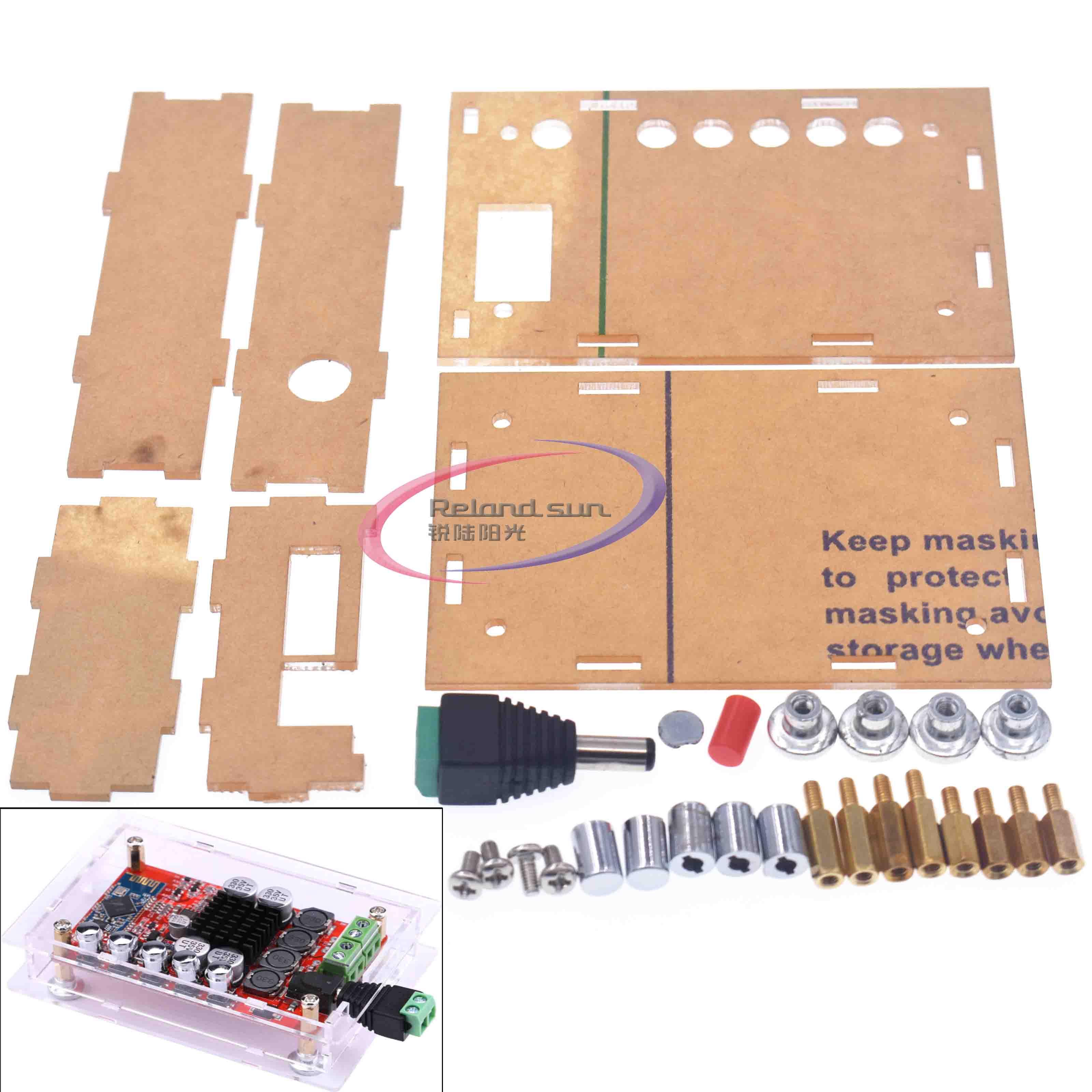 Funda acrílica para Amplifier amplificador Digital receptor de Audio Bluetooth 4,0