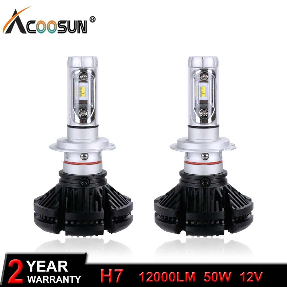H7 LED Car Light Bulb LED Headlight Bulbs 12000LM 50W 12V LED H7 Auto Replacement Parts lamp Change the light color in one Lamp