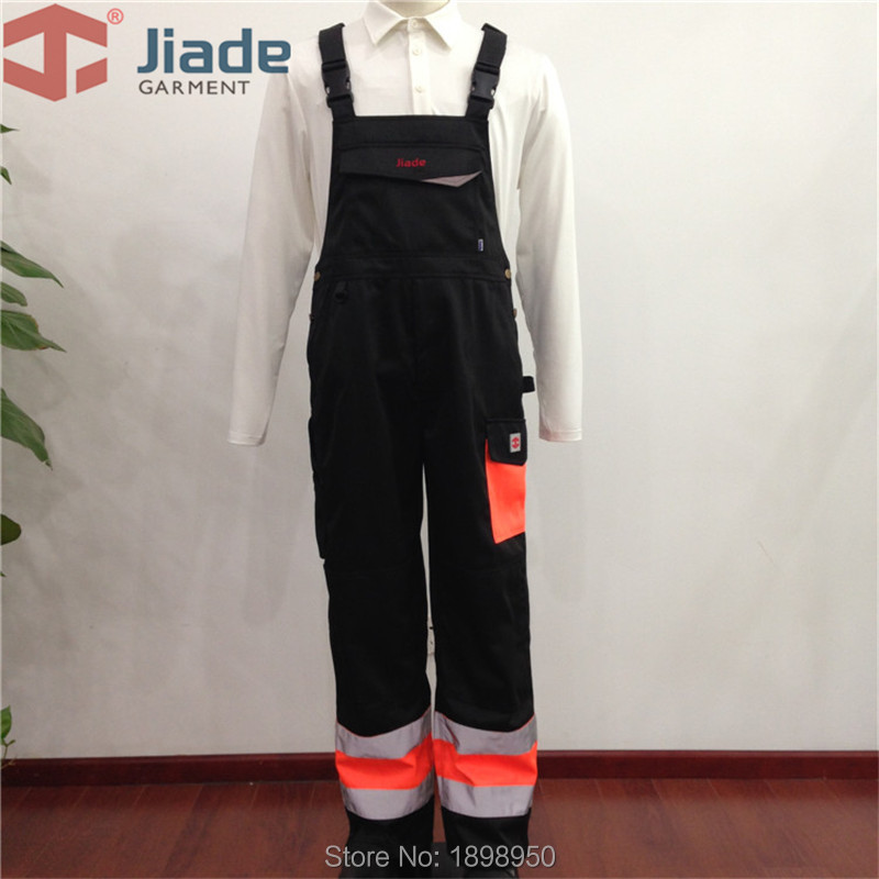 Jiade Adult High Visibility Winter Bib Pant Men's Work Reflective Winter Bib Pant