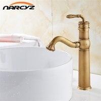Soild brass bronze control antique ceramic basin faucet crane cock bathroom basin mixer tap robinet antique tap XT910