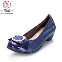 MUYANG Chinese Brands 2015 New Fashion Women Flats Women Genuine Leather Flat Shoes Woman Comfortable Sweet