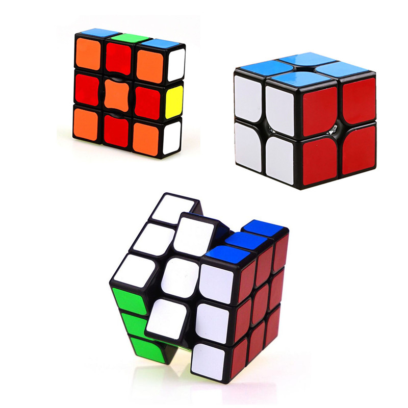 Magic Cubes Toys & Hobbies 3pcs/set Neo Spinner Cube 1x3x3/2x2x2/3x3 Magic Cube Educational Toy Black Spinner Hand Cubo Magico Toys For Children Gifts Harmonious Colors
