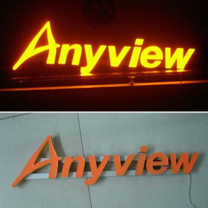 outdoor waterproof resin led advertising signs letters front lit