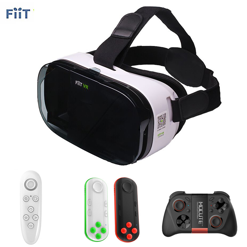 Fiit 2N <font><b>VR</b></font> Cardboard 3D Glasses for Samsung <font><b>Virtual</b></font> <font><b>Reality</b></font> Headset vrbox <font><b>Head</b></font> <font><b>Mount</b></font> <font><b>Video</b></font> <font><b>Helmet</b></font> +Bluetooth Controller