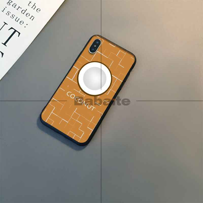 Babaite Nhỏ trái cây tươi Mới Đến Đen đựng Điện Thoại di động Apple iPhone 8 7 6 6S 6S Plus X XS MAX 5 5S SE XR Bao