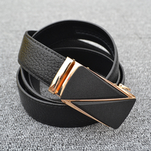 Leather Belt Business Automatic leather belt buckles Fashionable leisure hash leather belt цена и фото