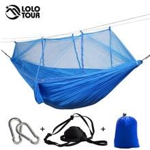Outdoor Mosquito Net Hammock High Strength Can Hold 200kg Netting Hamac Hanging Chair Sleeping Tree Bed Hunting Climbing Hamak
