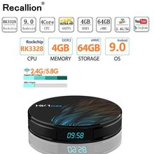 RECALLION HK1 Max Smart TV Box Android 9.0 4GB 64GB RK3328 1080p 4K Wifi Netflix Set top Box Media Player 2G 16G Android Box 9.0 cenovo minipcs 4k 1080p tv box windows 10 z8350 4gb 64gb