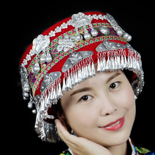Hmong hat miao jewelry Chinese Folk Dance hair accessories Miao hat ethnic minor