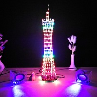 Control Canton Tower Electronic DIY suite creative Light cube Kit LED Display Audio Level Indicator wifi app Wireless Remote