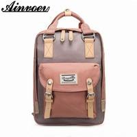 Ainvoev Doughnut Classic Original Kanken Canvas School Bag Fashion Travel Backpacks for Teenage School Bag Laptop Backpack Women