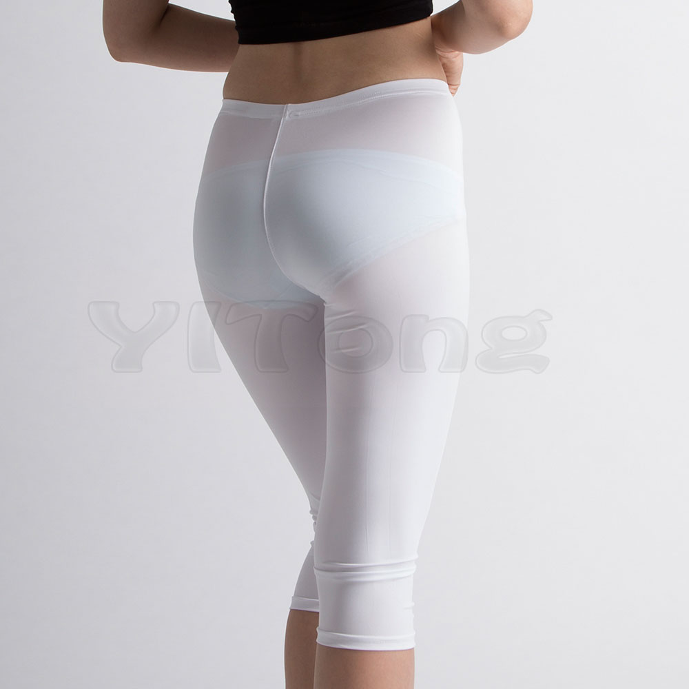 Hot Sexy Hip   Capris   White Transparent Pencil   Pants   Bottom Slim Hip Soft Legs Tights Pumping See Through Casual   Pants