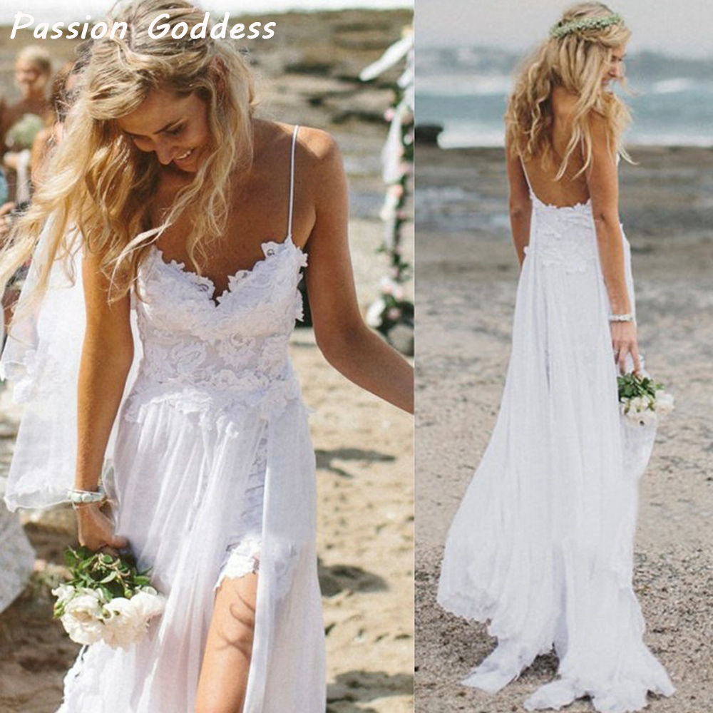 buy 2017 summer bohemian long sexy beach dresses spaghetti straps appliques low. Black Bedroom Furniture Sets. Home Design Ideas