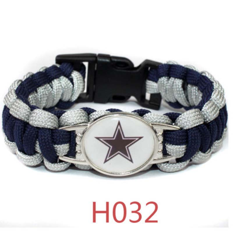 Football NFL US Team Umbrella Rope Wristband Bracelets Bracelet-Pick Team Gift image