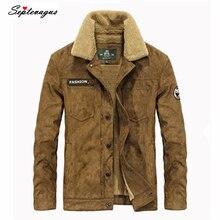 2017 Brand Clothing Men's Jackets Men Fashion Casual Thick Warm Velvet Army Green Khaki Jacket Parkas;chamarra;chaqueta invierno
