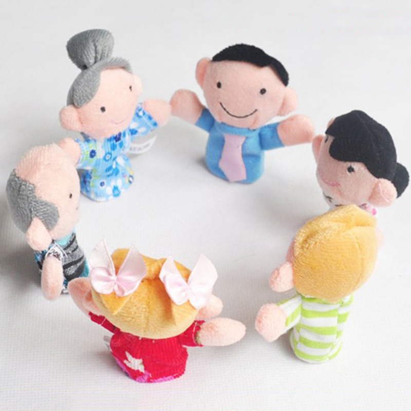 1Pcs Family Finger Puppets Cloth Doll Baby Children Educational Hand Toy Boys Girls Story Funny Kids Doll Toys DSP01