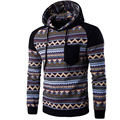 2017 Hoodies Mens Hombre Hip Hop Male Brand Hoodie Pattern Printing Pocket Sweatshirt   Suit Men Slim Fit Men Hoody XXL DSAA