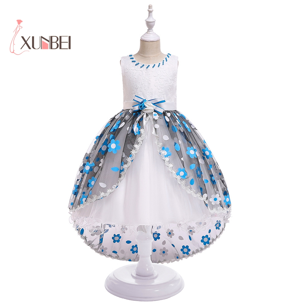Cute   Girls   Birthday Party   Dresses   Hi-low   Flower     Girl     Dresses   2019 Knee Length   Girls   Pageant   Dresses   First Communion   Dresses