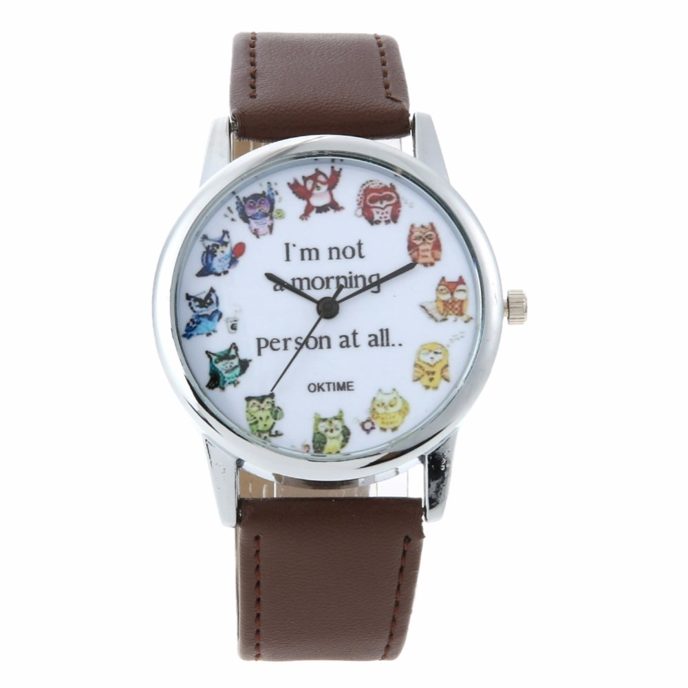 Fashion Animal Print Ladies Watch Women Leather Wrist Watches for Women Casual Quartz-Watch Female Clock Relogio Feminino cute cat watch women pu leather wrist watches vogue ladies casual analog quartz watch 2017 new fashion clock relogio feminino