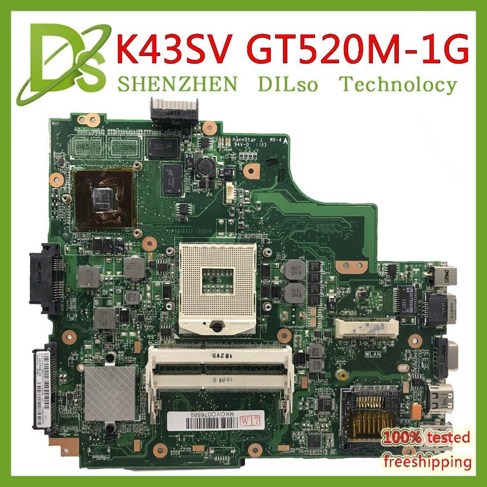 Kefu K43sv Motherboard For Asus K43sm K43s A43s X43s P43s