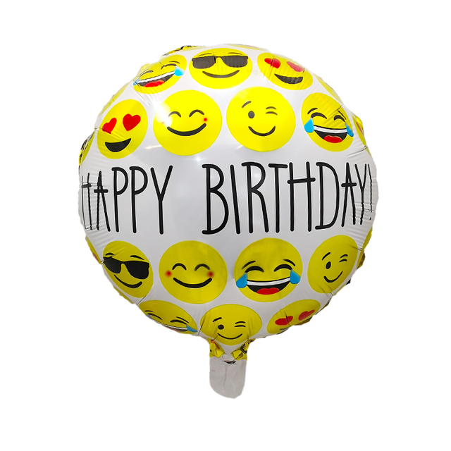 10pcs Lot 18inches Expression Emoji Foil Balloons For Birthday Party Emoticons Wedding Decoration Cartoon Inflatable