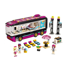 Friends Pop Star Tour Bus Building Blocks  Friends Figures Bricks Toys for Children Model Toys Gift цена в Москве и Питере