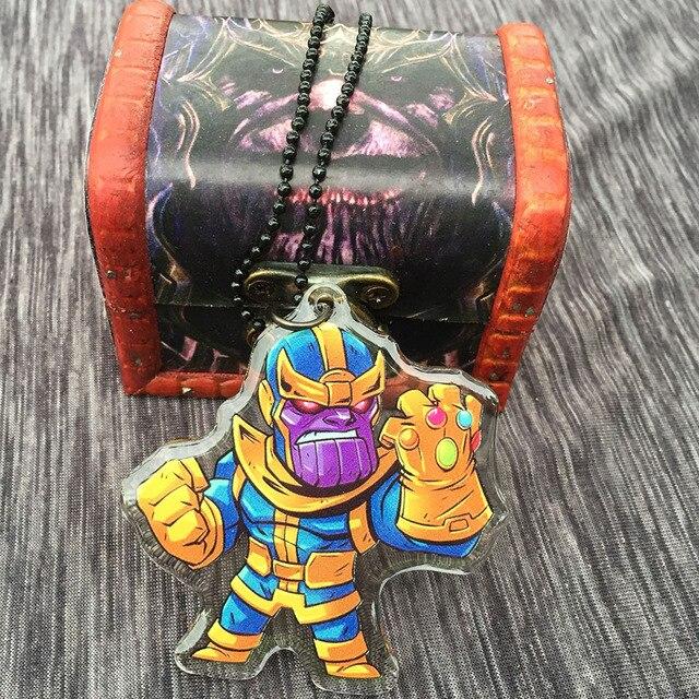 Акриловый брелок и кулон Танос Мстители: война бесконечности 2