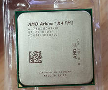 AMD X4 760k Quad-Core FM2 3,8 GHz 4MB 100W CPU X4-760k escritorio procesador(China)